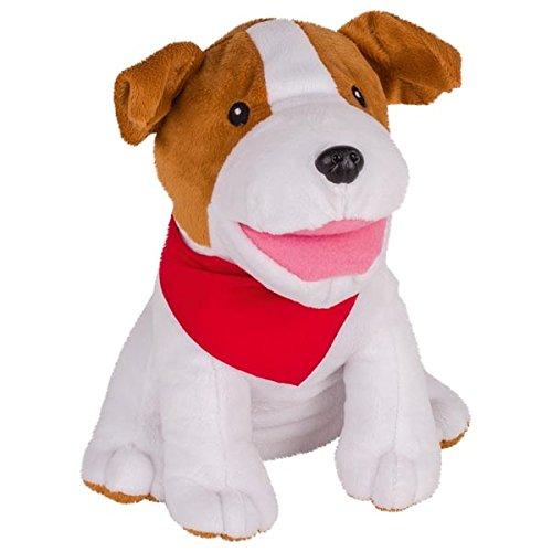 Handpuppe Hund, Goki, Plüsch, Jack Russel Terrier, weich und kuschlig