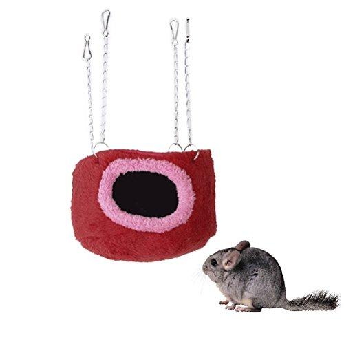 LEORX écureuil Guinée Pig Rat Chinchilla petits animaux Hamac Snuggle Coque arrière rigide