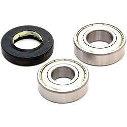 Lavadora Tambor rodamientos y retén de aceite para compatible con Hoover/Candy