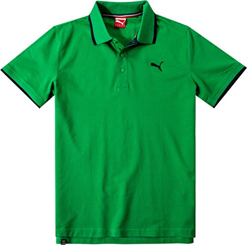 PUMA Herren Polo Shirt Fun Pique, Bright Green, S, 832217 07 (Polo-shirt Pique Sleeve)