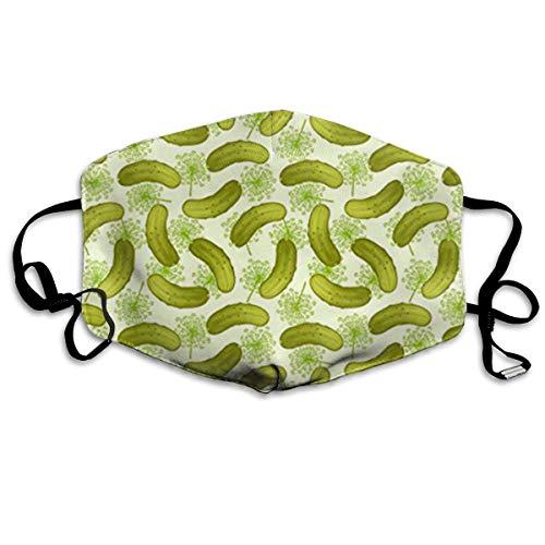 Preisvergleich Produktbild Nicegift Dill Pickles Gesichtsmasken,  atmungsaktiv,  Staubfilter,  Masken,  elastisch,  Ohrschlaufe