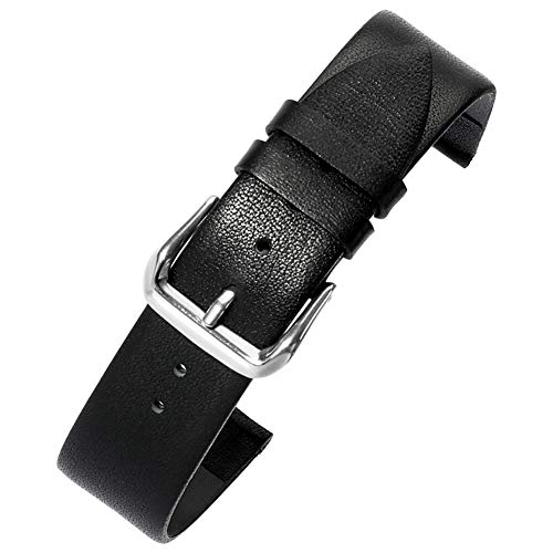 AUTULET Herren Leder Armband Schwarz 20mm