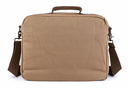 Gootium 51130Tela Portatile Borsa a tracolla in pelle–Manici per uomini e donne, Khaki (beige) - 51130KA Khaki