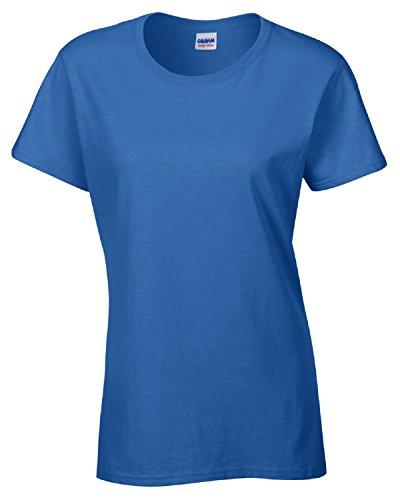 GILDAN Damen T-Shirt Blau - Königsblau