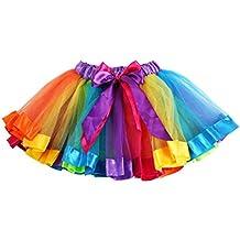 Culater® Ragazze Bambini Arcobaleno Bowknot gonna del vestito dal tutu Dancewear