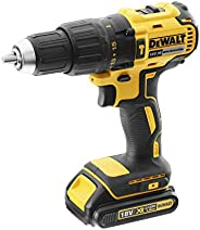 DeWalt 18V 13mm Compact Hammer Drill Driver, Brushless Motor, 2 x 1.5Ah Lithium-ion batteries, charger and kit