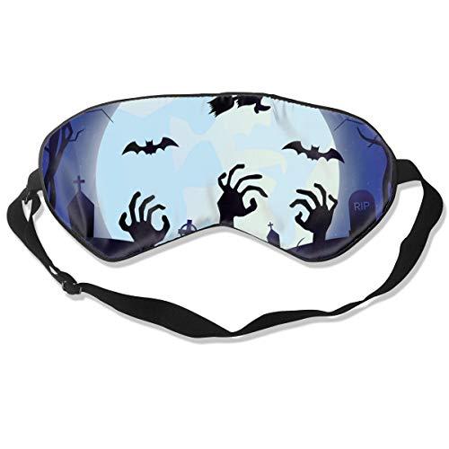een Mond Cartoon Zombie Personalisierte Schlafmaske Augenmaske Verstellbare Träger, super weich für Damen und Herren ()