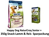 Happy Dog NaturCroq Senior | 15kg + Natur Croq Snack Lamm & Reis