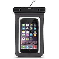 Lumanuby Housse étanche Pochette étanche Téléphone Universel Housse étanche Pochette étanche Certifiée IPX8 pour iPhone 6s/6, iPhone 6s Plus/6 Plus, Samsung Galaxy S7/Samsung Galaxy S7 edge, Smartphone de taille égale et inférieure à 6'' -Noir