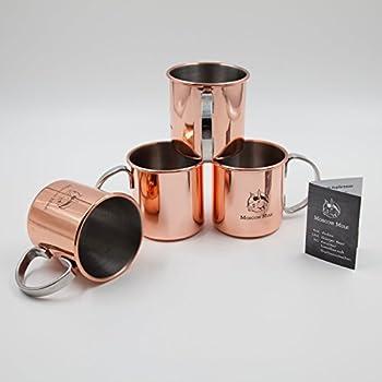 russian standard vodka design kupfer becher tasse moscow mule becher k che haushalt. Black Bedroom Furniture Sets. Home Design Ideas