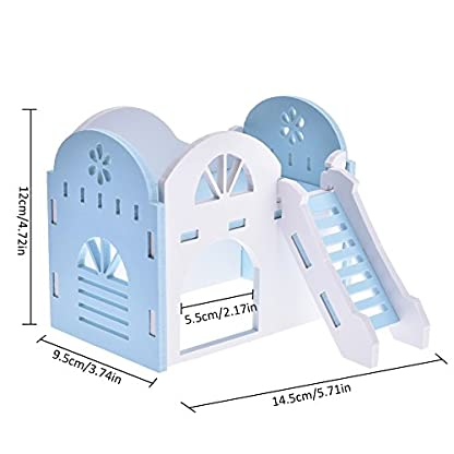 Pet House Hamster Bear Syrian Double-Deck Sea Villa Small For All Year Round Animal Hideout Deluxe Two Layers Eco… 5