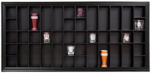 Galerie Lösungen 35x 16Shot Glas Display Case mit aufklappbaren Front, Schwarz