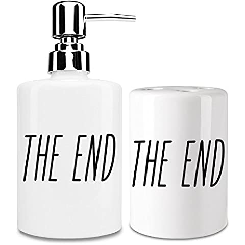 The end Dispensador de jabón y Porta Cepillo de dientes