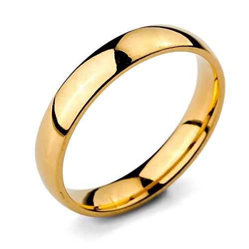 MunkiMix Anillo oro dorado hombre y mujer