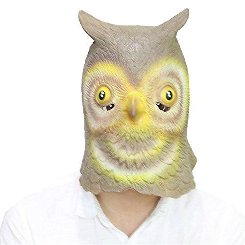 SQCOOL Halloween Eule Masken Party Requisiten Make-up Tanz Latex Tier Kopf Abdeckung Lustige Scary