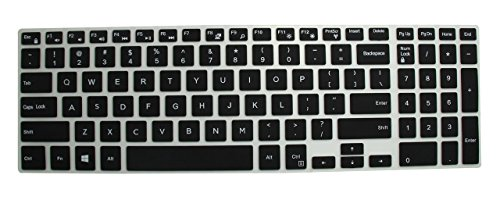 Neon Keyboard Protector Silicone Skin Cover for Dell Inspiron 5000 5558 15.6-inch Laptop
