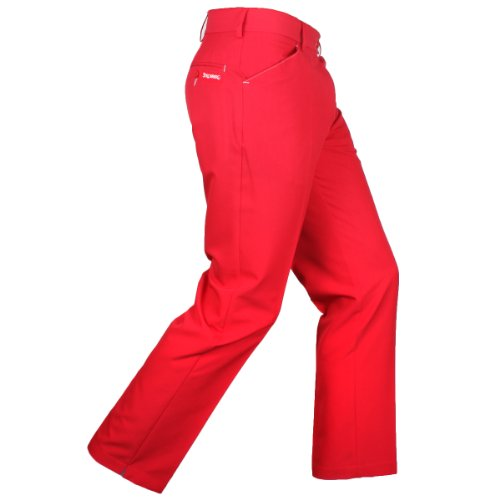 2015 Stromberg SINTRA Technical Funky Golf Trousers Red 34x31 (Bein, Flat Front Hose)