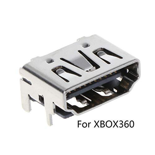 JOYKK 1-teilige Ersatz-Kits Port Connector Socket Plug für 360-Konsolen-Zubehör - Silber -