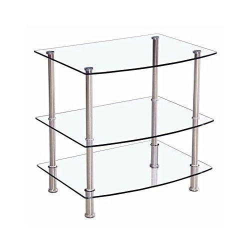 Mesa televisión de cromo y cristal de 60x45 cm alto 60cm mueble ligero y práctico para la televisión