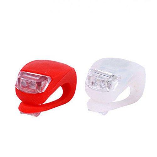 AFS - 2Pcs/ Black Waterproof Super Frog White LED Bicycle bike Head Light Headlamp Headlight- 3 Different Modes / Steady / Blinking Light