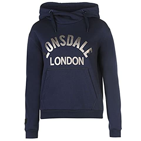 Lonsdale Femme Enfiler Sweater Sweat A Capuche Hoodie Hoody Top