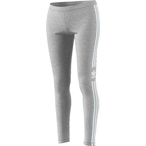 adidas Damen Trefoil Leggings, Medium Grey Heather, 36 - Adidas Capri Jersey
