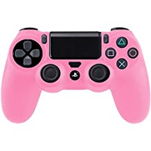 Funda Cubierta de Silicona rosa para PS4 PlayStation 4 Controlador Mandos
