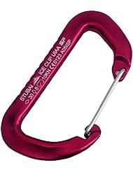 Stubai Sports - Mosquetón para hielo, color rojo, talla 30