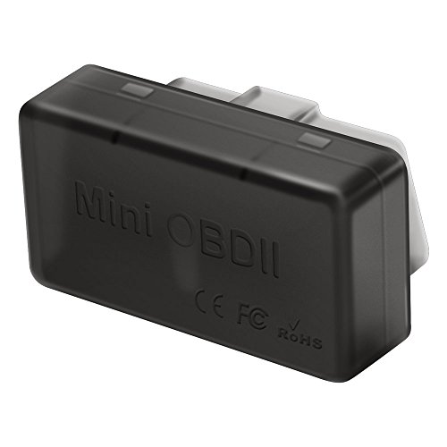Hokyzam Mini Bluetooth OBD2, C02 Bluetooth 4.0 OBDII EOBD Scanner Adapter Automotive Check Motor Licht Diagnose Codeleser für Android IOS Windows