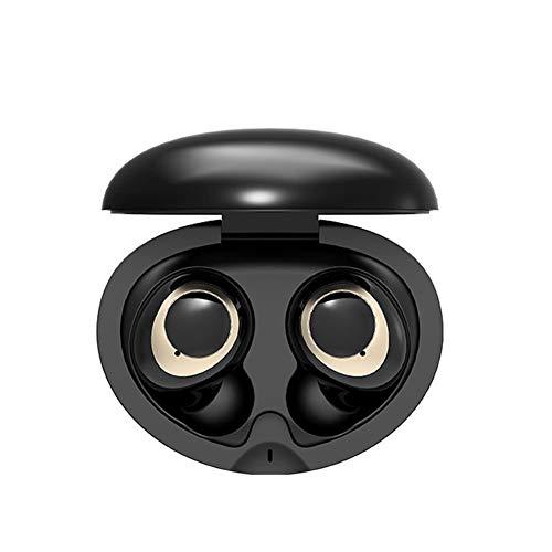 UMCCC Drahtlose Kopfhörer, drahtlose Ohrhörer Touch Control Bluetooth-Kopfhörer In-Ear-Kopfhörer mit Kopfhörer,Black
