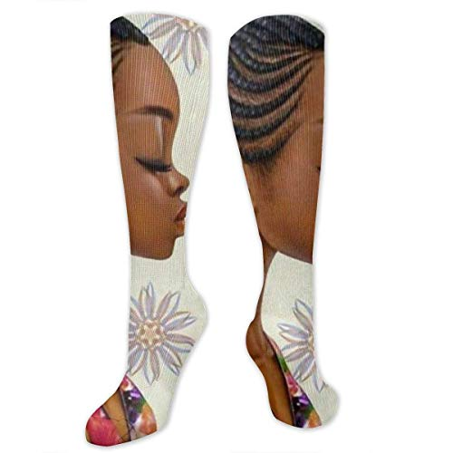 NFHRREEUR Women Teens Girls Knee High Socks African -