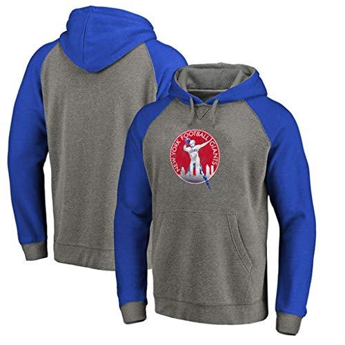 WLDSH Basketball Fan Sport Pullover New York Giants Fußball Trainingsanzug Pullover Hoodie Pullover lässig langärmelige Trainingskleidung (Size : S) - New York Giants-stoff