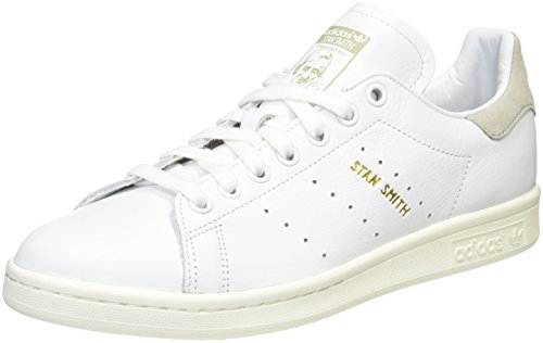 adidas Originals Herren Stan Smith Turnschuhe, Weiß (Ftwbla/Ftwbla/Blacla), 44 EU (Smith Herren Schuhe)