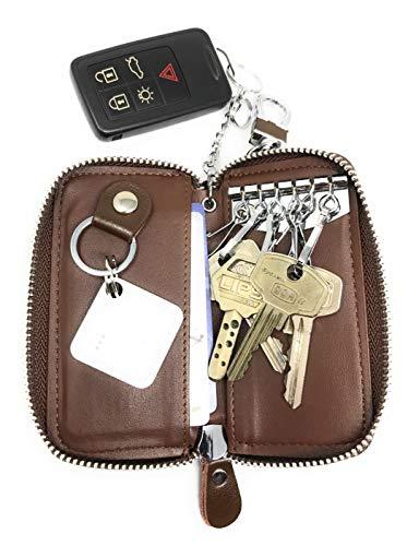 8180cb21b3be6a Portafoglio chiave Portachiavi Portafoglio con Cerniera Astucci Portachiavi  in Vera Pelle per portafogli da Uomo e