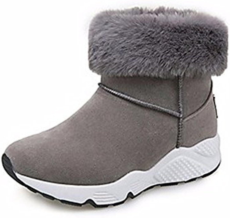 ZHUDJ Scarpe Donna Autunno Snow Snow Snow stivali Stivali Tacco Piatto rossoondo Mid-Calf Toe Stivali per Casual Nero Grigio | Nuovi Prodotti  | Uomo/Donne Scarpa  c0b34b