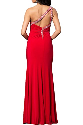 Gorgeous Bride Beliebt EinTraeger Etui Lang Chiffon Paillette Schlitz  Abendkleid Promkleid Abendmode Rot