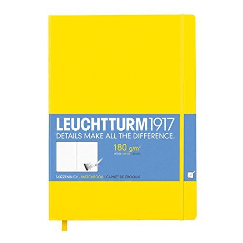 Leuchtturm1917 345001 Skizzenbuch Master (A4+, mit reinweißem, extra starkem 180 g/m² Papier, 96 Seiten) zitrone