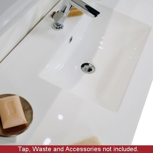 800mm Minimalist White Gloss Bathroom Vanity Furniture Unit And Ceramic Basin