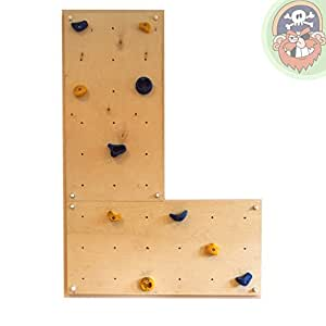 gartenpirat indoor kletterwand iw2 kinder klettern im haus wohnung kinderzimmer. Black Bedroom Furniture Sets. Home Design Ideas