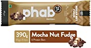 Phab Protein Bar – 21g protein, No Preservatives, No Artificial Sweeteners, Zero Trans Fats: Pack of 6x 65g (M