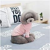 198888 Geyao Ropa para Perros sección Delgada de otoño e Invierno Camisa de Tocar Fondo Oso de Peluche Versión Coreana de la cómoda y Fresca Pareja de Perros pequeños (Color : Pink, Size : M)