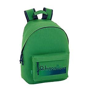 """41rT2qnDNrL. SS300  - Benetton UCB Green Oficial Mochila Juvenil Para Portátil 14,1"""", 310x160x410mm"""