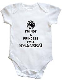 """HippoWarehouse - body infantil con texto en inglés """"I'm Not a Princess I'm a Khaleesi"""""""