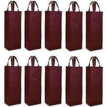 Non-woven 10 pcs reutilizable bolsa de bolsa térmica para botella de vino soporte de