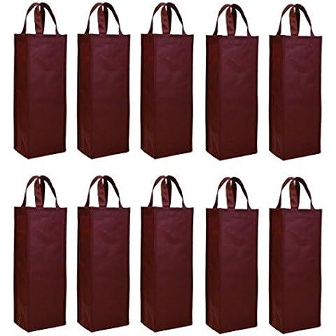 Non-woven 10pcs reutilizable bolsa de bolsa térmica para botella de vino soporte de vino bolsa de regalo vino carier bolsa single