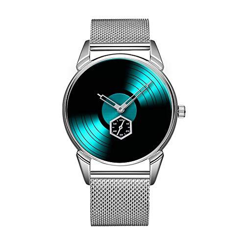 Mode wasserdicht Uhr minimalistischen Persönlichkeit Muster Uhr -762. Retro Vinyl Record Album (Vinyl Album-kunst)