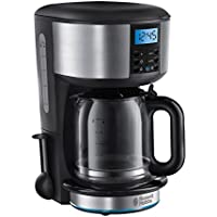 Russell Hobbs 20680 Buckingham Coffee Maker, 1.25 L - Black and Silver