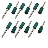 DealMux 3mm 08.01-Zoll-Schaft 8mm Zylinder-Gummidorn Mounted Schleifpunkt Grün 12st
