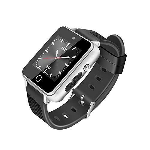 MüLö Intelligente Uhr S91 1,54 Zoll HD-Touchscreen GSM 512M + 4G Vierkern-Android 5.1 Smart-Uhr 5.0 MP Kamera mit WLAN (D)
