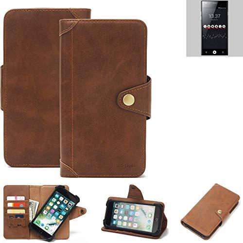 K-S-Trade® Handy Hülle Für ID2ME ID1 Schutzhülle Walletcase Bookstyle Tasche Handyhülle Schutz Case Handytasche Wallet Flipcase Cover PU Braun (1x)